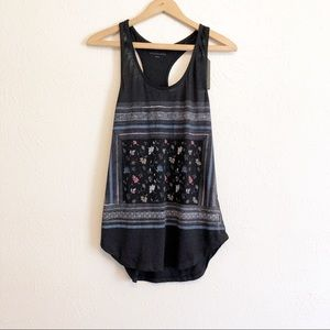New All Saints Floral Graphic Tank Top